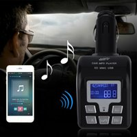 Wholesale LCD Bluetooth Car Kit MP3 Player FM Transmitter Modulator USB with Remote New Dropping Shipping