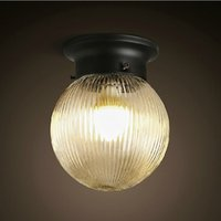 Wholesale American Country Style Loft Vintage Wall Lamps Round Crystal Glass Wall Lights Home Decor Wall Sconce Light Fixtures abajur