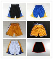 basketball state - 6 colors New Golden States Men chinese new year Basketball shorts all stars Sportswear Jersey shorts cheap Men blue yellow black shorts