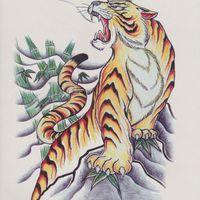 bb art - men back temporary tattoo stickers waterproof large tiger body art makeup makeup bb makeup magazine