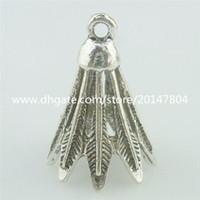 badminton necklace - 15506 Alloy Antique Silver Vintage Badminton Pendant Fit Earring Charm