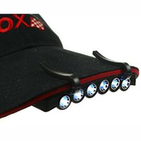 Wholesale Easy To Carry Mini LEDs Cap Lamp Clip On Hat Lights LED Brim Lamp CR2032 Battery For Outdoor Fishing Camping
