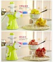 Wholesale one machine dual use Manual juice extractor for children fruit ice cream machine juicer ice cream maker