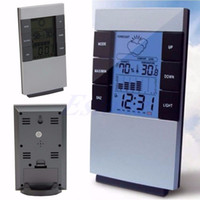 Wholesale NEW Indoor Hygrometer Weather Forecast Clocks Max Min Temp Humidity Record Chime Y102