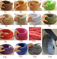 Wholesale m litz wire electrical wire twisted wiresTextile Fabric electric cable Vintage Power Cord cable electrique