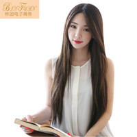 Wholesale 2016 new campus Belle black long straight hair wig standard high temperature wire cos fashion wig