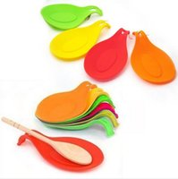 Wholesale New Popular Silicone Spoon Rest Heat Resistant Kitchen Utensil Spatula Cooking Tool fei