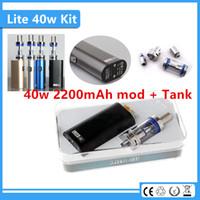 Cheap Original electronic cigarettes Jomotech 40 watt vape e cig box mod Lite 40w vapor mod kit with 18650 built-in battery and jomo glass tank