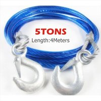 Wholesale M Tons Practical Car Towing Rope Traction Rope Heavy Duty Steel Hooks Emergency Recovery Steel Wire Synthetic Winch Cable