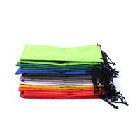 Wholesale 1000pcs Colorful Durable Waterproof Dustproof Cloth Sunglasses Pouch Eyeglasses Bag Glasses Phone Case Eyewear Accessories ZA0885