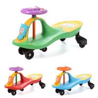 baby ride cars - Retail Baby Walker Slide Car Music Toddler Ride On Toys Boy Girl Lovely Swing Car Activity Twist Car Christmas Gift JN0083