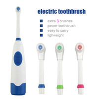 Wholesale New Adult Oral Hygiene Tool Double Power Electric Toothbrush Sound Vibration Waterproof Automatic Toothbrush With Extra Heads