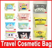Wholesale MAKE UP BAG COSMETIC BAG Cases PU Carton Women Lady Girl Zipper Multifunction Waterproof Storage Bag Purse