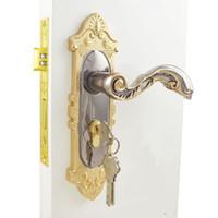 bathroom locks - Y1292TBG interior door decoration high grade zinc alloy door handle lock European bedroom bathroom door locks