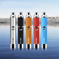 portable kit - Original Yocan Evolve plus Kit Wax Pen Vaporizer Kits E Cigarette Kit With Extra Quartz Dual Coil Colors Portable In Stock