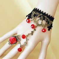 Wholesale WISHCART Crystal Bracelet Vintage Red Crystal lace bracelet with GS119