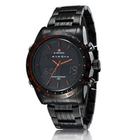 Wholesale 2016 NAVIFORCE Stainless Steel ATM Waterproof Fashion Wristwatch Dual Time Quartz Sports Men Watch