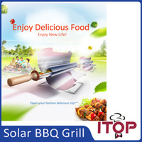Wholesale Smaller Convenient Portable Solar BBQ Grill Green Solar Oven Camping Outdoor Grill Fast shipping Suitable for people