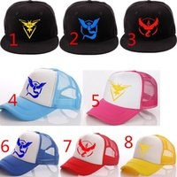 Wholesale 2016 Poke Go Caps Fashion Snapbacks Fashion Poke Hats Pikachu Caps Adjustable Snapbacks Hats Pocket Monster Poke Mon Hats