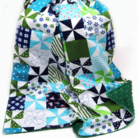 Wholesale New Fashion Minky Baby Series Cotton Baby Security Cuddle Soft Custom Design Minky Baby Patchwork Blanket