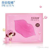 Wholesale 10pcs PILATEN Lip Plumper Crystal Collagen Lip Mask Moisture Essence Anti Ageing Wrinkle Patch Smoothing Lip Mask GI2580