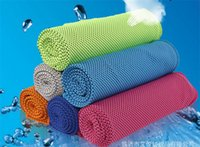 Wholesale Korean Summer Cooling Towel Camping Hiking Gym Exercise Workout Towel Ice Fabric Ultra Compact Soft with bottle