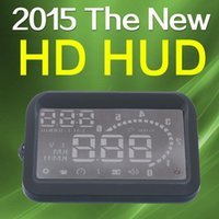 Wholesale Universal Car HUD Head UP LCD Display OBD II Car Kit fuel Overspeed KM H W02 pro for Ford Toyota