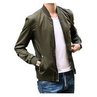 air overcoats - cnWay New Euro America Pilot Air Street Bomber Jackets Men Autumn Tide Brand Slim Jacket chaqueta hombre Outerweae Overcoat