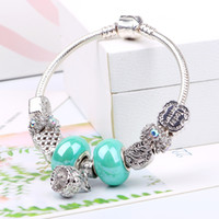 bar pendants - 2016 New Arrival Pandora Bracelets for Woman Gift With sterling Silver Pendant Charm Bracelets