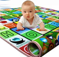 baby crawl mat - 2016 Hot Baby Crawling Mats EPE Fruits Letters Learning Mats Double Side Waterproof Rugs Safety Floor Exercise Mats For Baby