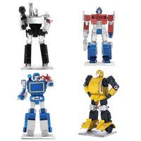 Wholesale Transformation Robot Model D DIY Metal Puzzle Colorized Bumblebee Optimus Prime Soundwave Megatron Autobots Adult Jigsaw Toy