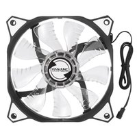Wholesale HANJUNG mm Sleeve Bearing V A LED Light Silent PC Case Fan Pin Computer CPU Cooling Cooler Radiator for Laptop Free DHL C3209