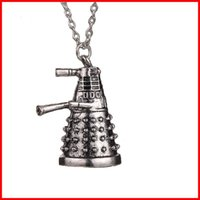 alien jewelry - New Dr Doctor Who Dalek Necklace Vintage Retro Alien Robot Antique Silver Pendant Jewelry Statement necklace jewelry Christmas gift