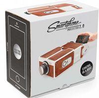 Wholesale Portable Cardboard Smartphone Projector V2 DIY Mobile Phone Projector Portable Cinema for Smart Phone V1379