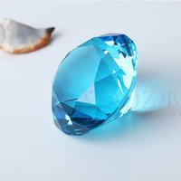 Wholesale mm quot Beautiful k9 Crysal wedding Diamond Big Crystal Paperweight Holiday Decoration Gift
