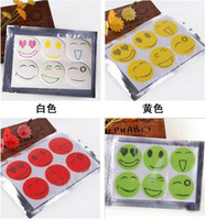Wholesale Mosquito Repellent Stickers QQ Expression emoji Nature Anti Mosquito Repellent Insect Repellent Bug Patches Smiley Smile Face Patches hot