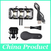 Wholesale Sport Camera Light GoPro Hero SJ400 Fill Light Photography Lights Underwater m Waterproof LED Light Newest