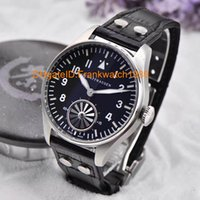 Wholesale IVVC Big Pilot Automatic Tourbillon IW5003 Silver Edition White Black Dial on Brown Leather Strap Men s high quality watch Christmas