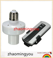 Wholesale 1PCS Durable E27 Screw Wireless Remote Control Light Lamp Bulb Holder Cap Socket Switch New On Off Hot Sale