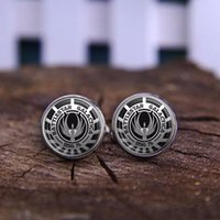 battlestar movies - Battlestar Galactica Glass Dome necklaces silver vintage movie gift jewelry send of friend High Quality shirt Cufflinks jewelry