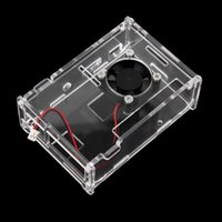 Wholesale New Transparent Clear Acrylic Shell Case Enclosure Box Cooling Fan for Raspberry Pi Model Raspberry Pi B