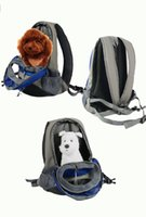 Wholesale Pet Dog Puppy Backpack Carrier Travel Note Bag Front Net Double Sling Shoulder