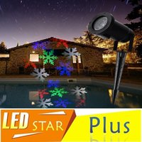 Wholesale Christmas Snowflake Laser Lights Snow LED Landscape Light Outdoor Holiday Garden Decoration Projector Moving Pattern Spotlight AC V