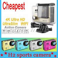action sports design - Ultra Slim Design H2 Action Camera Degree K Sports DV WIFI Mini Waterproof UP TO M Digital Camcorder DHL Free