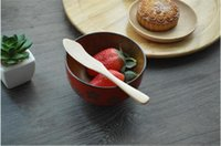 Wholesale High Quality Jam Knife Originality Wooden Dinnerware Knife Children Dinnerware Cake Knife Burlywood cm Size