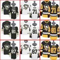 Wholesale Pittsburgh Penguins Olli Maatta Kessel Sidney Crosby Men Women Youth Black White Yellow Stanley Cup Final patch Custom Jerseys