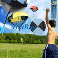 large inflatables - Random Color Skydiver Kids Toy Hand Throwing Parachute Kite Outdoor Play Game Toy