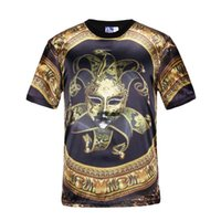 asia masks - Mikeal Mask Clown t shirt men s d print flowers circle summer tops t shirt d sports tees slim Asia S XXL