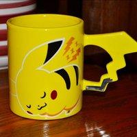 coffee mugs - Hot Fashion Creative Pikachu Travel Coffee Mug Ceramic Tea Water Bottle Cup Adult Kids Gifts Espresso Cups