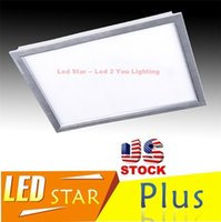 Wholesale Stock In US ft X ft LED Panel Light mm Flat Ceiling Panel Lights W K K AC V Drivers